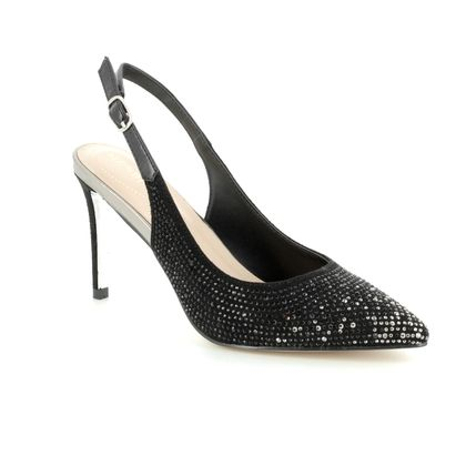Menbur Heeled Shoes - Black Glitz - 09357/01 DOTTI
