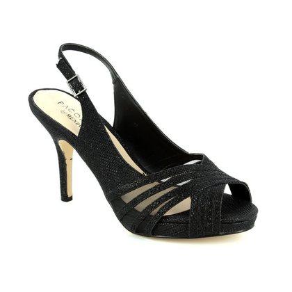 Menbur Heeled Shoes - Black - 07538/01 SINGAPUR