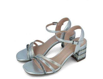 Menbur Heeled Sandals - Silver - 20845/09 TEORA