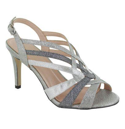 Menbur Heeled Sandals - Silver - 20270/09 VEDUN