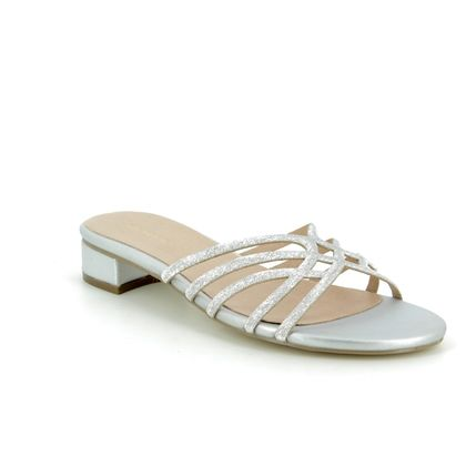 Menbur Slide Sandals - Silver - 20295/09 VERNA