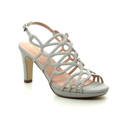 Menbur Heeled Sandals - Silver - 20322/09 VERONA