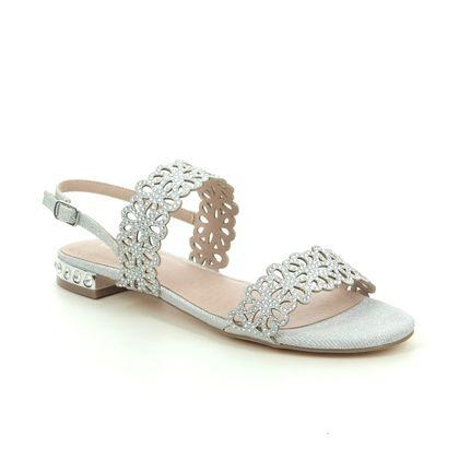 Menbur Flat Sandals - Silver - 20419/09 VILLORA