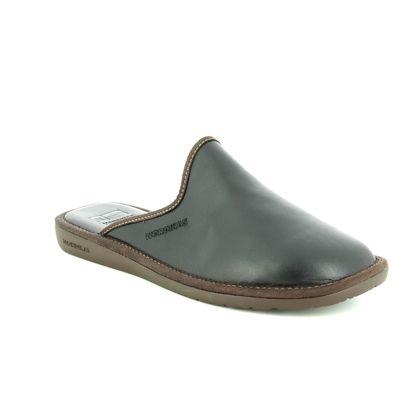 Nordikas Slippers & Mules - Black leather - 131/ MENLEAMU