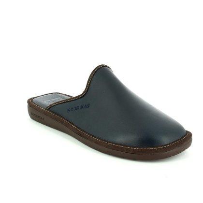 Nordikas Slippers & Mules - Navy leather - 0131/76 MENLEAMU 42