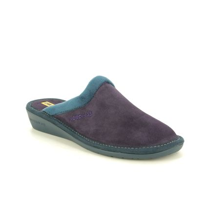 Nordikas Slippers & Mules - Purple suede - 234/8 MUSUE  95