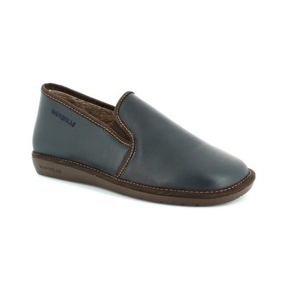 Nordikas Slippers & Mules - Navy Leather - 663 NOBLE