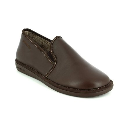 Nordikas Slippers & Mules - Brown leather - 663/ NOBLE