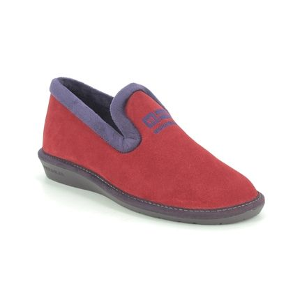 Nordikas Slippers - Red suede - 305/4 TABACKIN