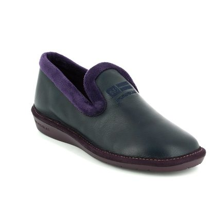 Nordikas Slippers & Mules - Navy Leather - 305/7 TABACKIN 72