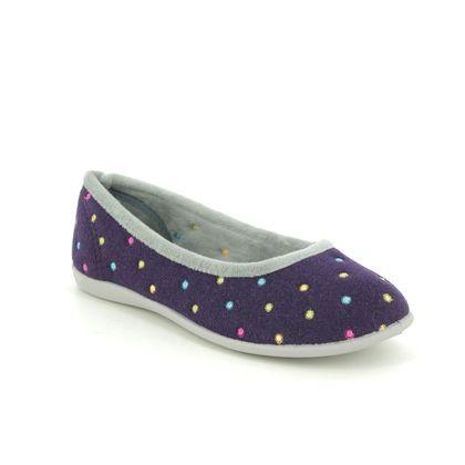 Padders Slippers & Mules - Purple - 4025-6307 BALLERINA E FIT