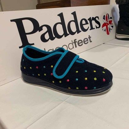 Padders Slippers & Mules - Navy - 0447-4407 CAMILLA EE FIT