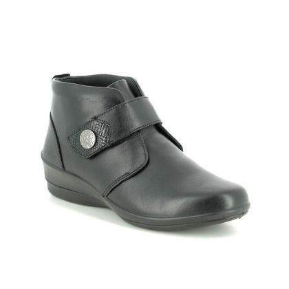 Padders Boots - Ankle - Black leather - 0514-10 ELENA  E-EE FIT