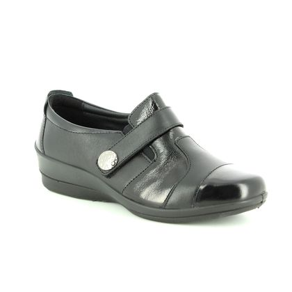 Padders Comfort Slip On Shoes - Black patent - 0294/38 ENDURE E-EE FI