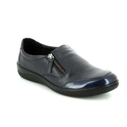 Padders Comfort Slip On Shoes - Navy - 0237/96 GRACIE E FIT