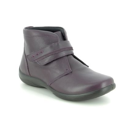 Padders Ankle Boots - Purple Leather - 0543-95 HARMONY EE-EEE