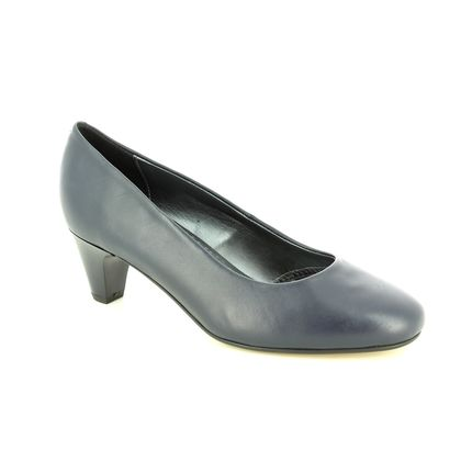 Padders Court Shoes - Navy Leather - 201-24 JANE