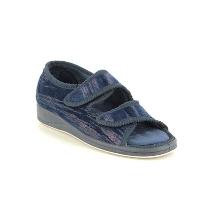 Padders Slippers & Mules - Navy - 0414-4005 LYDIA  EE FIT