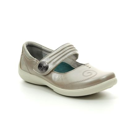 Padders Comfort Slip On Shoes - Metallic - 0853-64 POEM   EE-EEE