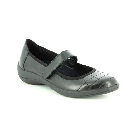 Padders Mary Jane Shoes - Black leather - 2023/10 ROBYN  D-E FIT