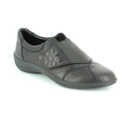 Padders Comfort Slip On Shoes - Black - H203/10 ROSE E FIT