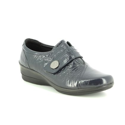 Padders Comfort Slip On Shoes - Navy patent - 0252/23 SIMONE 3 E-EE
