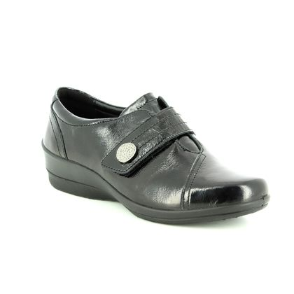 Padders Comfort Slip On Shoes - Black patent - 0252/60 SIMONE 3 E-EE