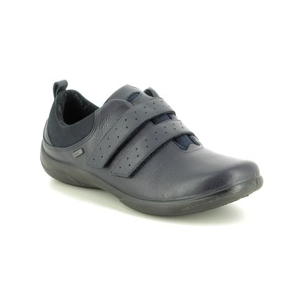 Padders Comfort Slip On Shoes - Navy leather - 0959-24 SOUTHWELL TEX
