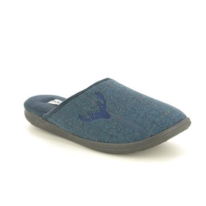 Padders Slippers & Mules - Navy - 0490-96 STAG   G FIT