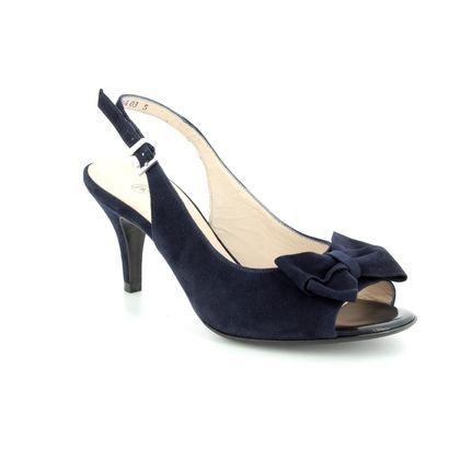 Peter Kaiser Heeled Sandals - Navy Suede - 82127/104 BERINA