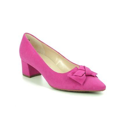 Peter Kaiser Court Shoes - Fuchsia Suede - 41519/583 BLIA
