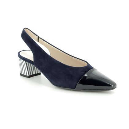Peter Kaiser Slingback Shoes - Navy Patent-Suede - 47309/910 BOZEA