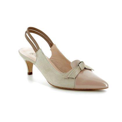 Peter Kaiser Court Shoes - Beige patent-suede - 55137/000 CIMERA