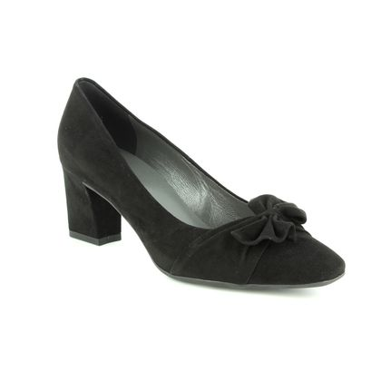 Peter Kaiser Court Shoes - Black Suede - 46227/240 GESINA
