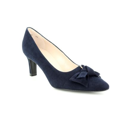 Peter Kaiser Court Shoes - Navy Suede - 66319/104 MALLORY