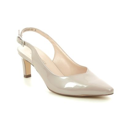Peter Kaiser Slingback Shoes - Nude Patent - 66503/501 MEDANA