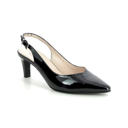 Peter Kaiser Slingback Shoes - Navy patent - 66503/523 MEDANA