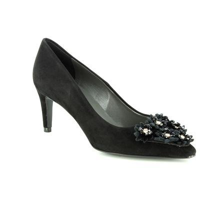 Peter Kaiser Heeled Shoes - Black Suede - 74263/240 ROBIN