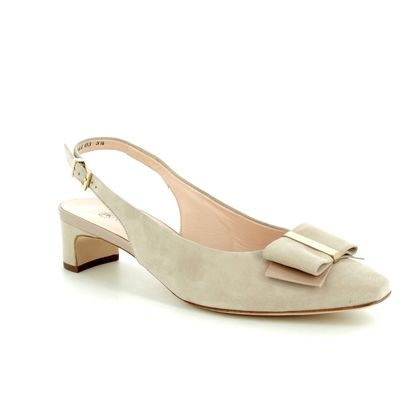 Peter Kaiser Court Shoes - Beige patent-suede - 27153/695 SILIA