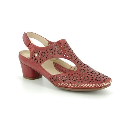 Pikolinos Closed Toe Sandals - Red leather - W6R5873/80 GOMERA SINA
