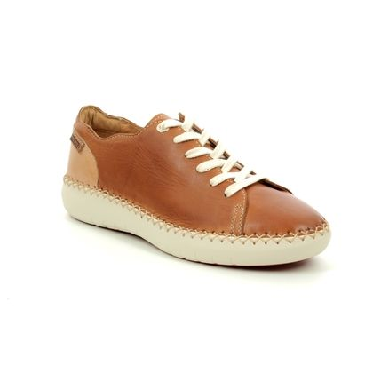 Pikolinos Comfort Lacing Shoes - Tan Leather  - W0Y6836/11 MESINA