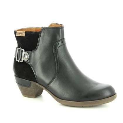 Pikolinos Fashion Ankle Boots - Black leather - 9029945/30 ROTTERDAM