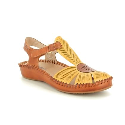 Pikolinos Closed Toe Sandals - Yellow Tan - 6550575/08 VALLARIA