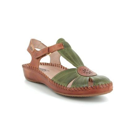 Pikolinos Closed Toe Sandals - Green - 6550575/90 VALLARIA