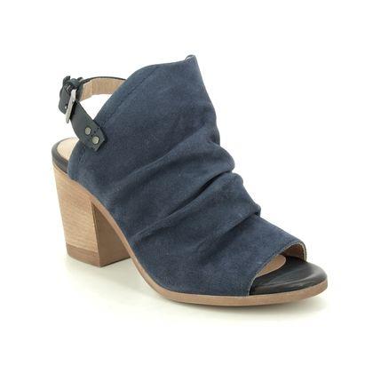 Pinto Di Blu Heeled Sandals - Navy Suede - 6160116403 LAOS