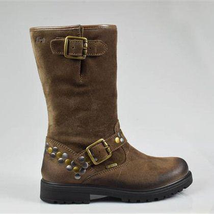 Primigi Girls Boots - Tan Suede - 23824/33 BATLER GORE-TE