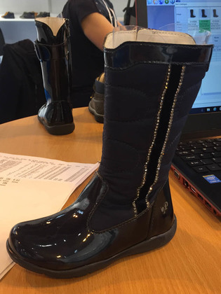 Primigi Girls Boots - Navy patent - 8150100/35 FLORA SPARK