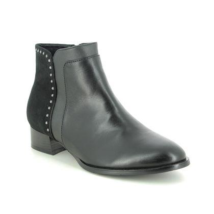 Regarde le Ciel Boots - Ankle - Black leather - 2002/5348 CHERRY 02