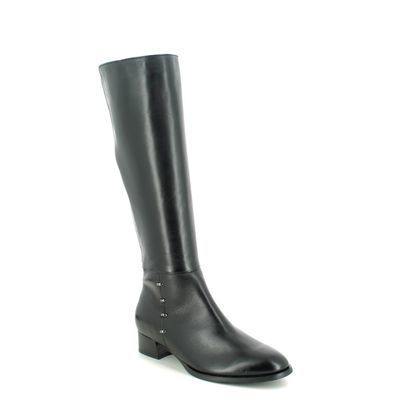 Regarde le Ciel Knee High Boots - Black leather - 2010/003 CHERRY 10
