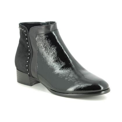 Regarde le Ciel Boots - Ankle - Black patent - 4724/30 CRISTION 25